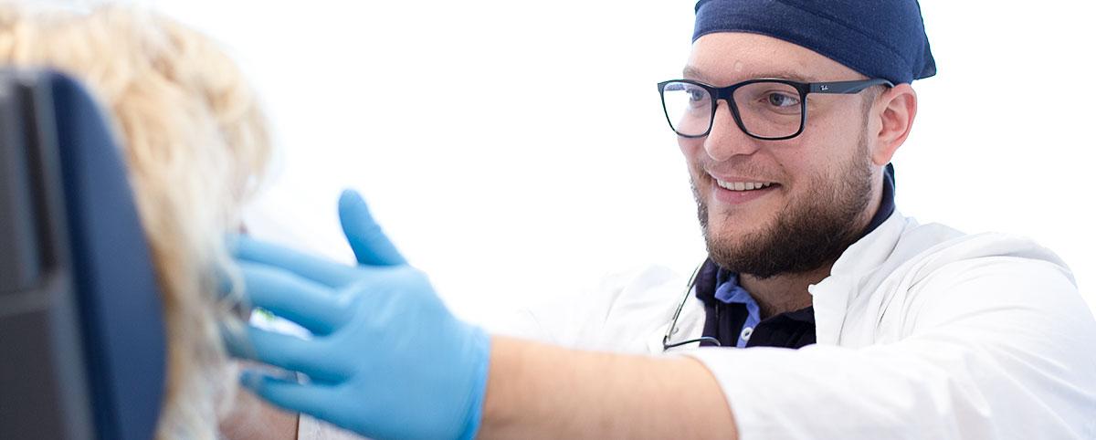 Vermessungsschiene für die CMD Behandlung bei Dr. Moroni